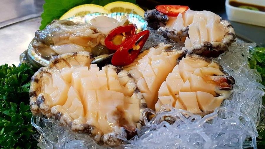 Sashimi bào ngư Hàn Quốc