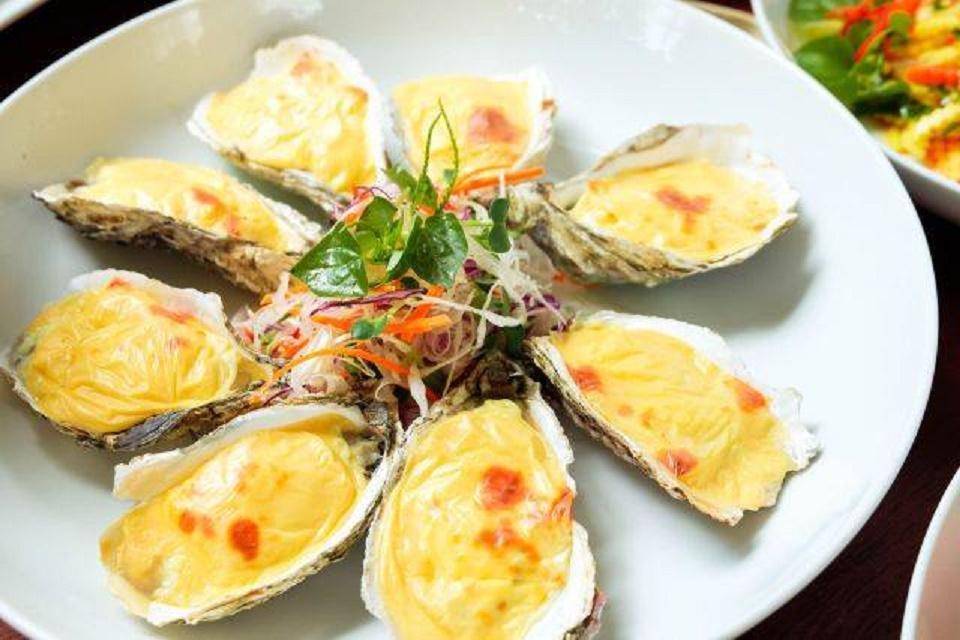 Hàu Nhật chế biến thành các món ăn giàu dinh dưỡng.