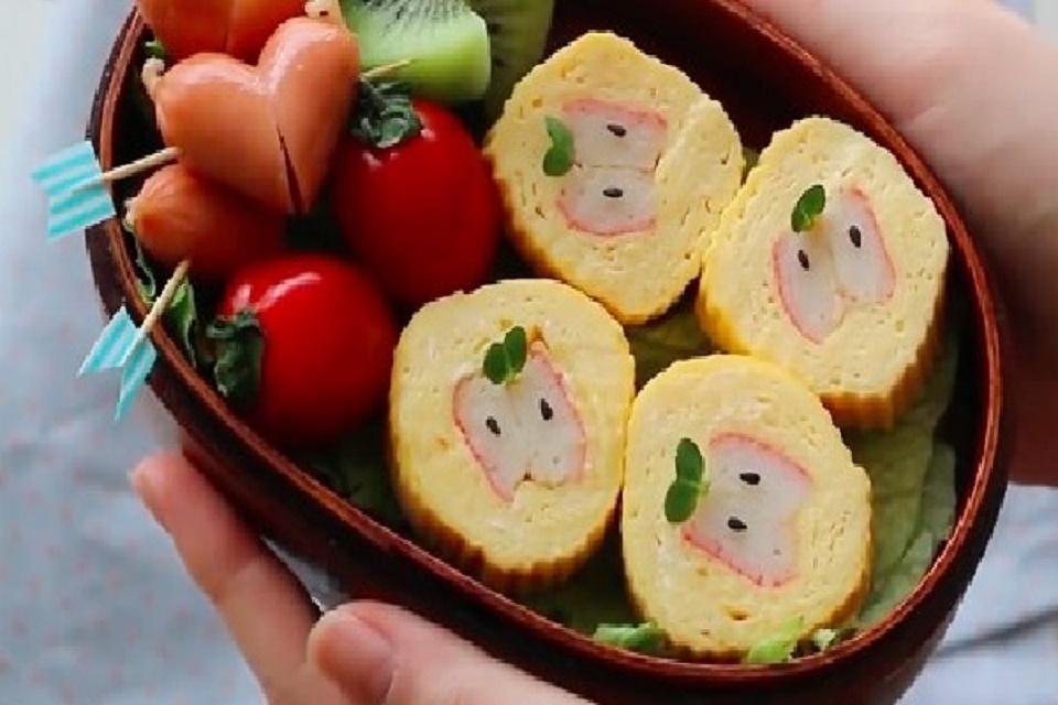 SuShi trứng cuộn thanh cua Nhật